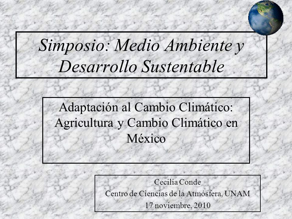 Simposio: Medio Ambiente y Desarrollo Sustentable