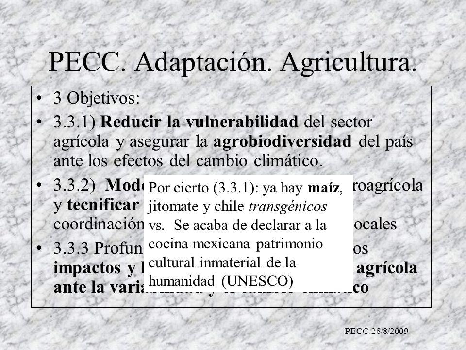 PECC. Adaptación. Agricultura.