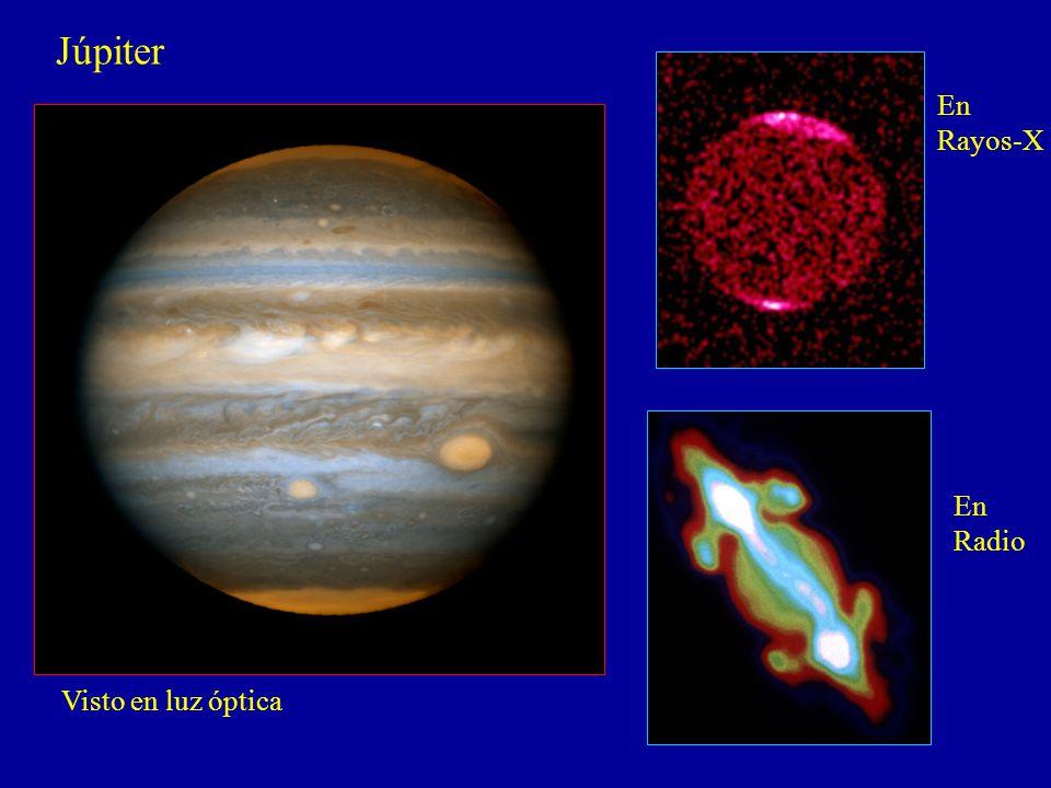 Júpiter En Rayos-X En Radio Visto en luz óptica