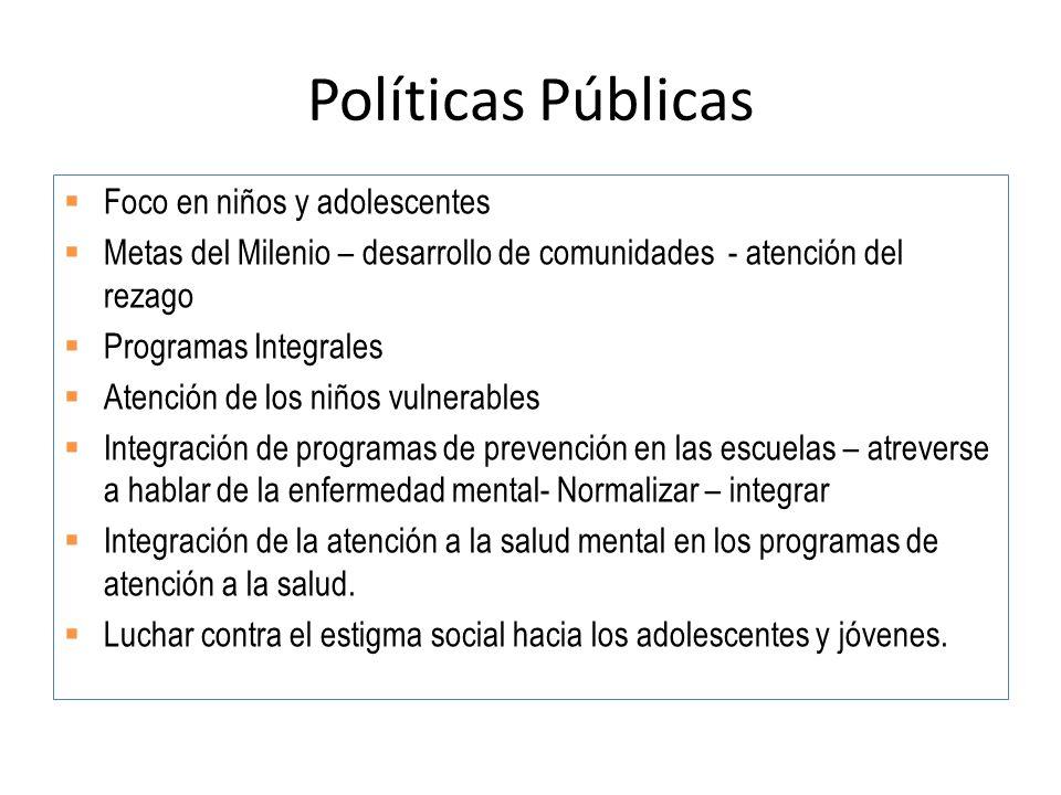 Políticas Públicas Foco en niños y adolescentes