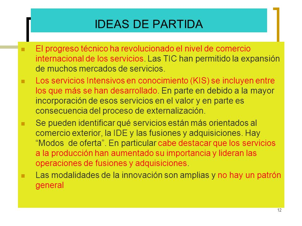 IDEAS DE PARTIDA