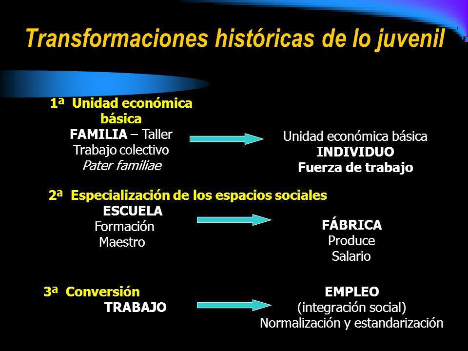 Transformaciones históricas de lo juvenil