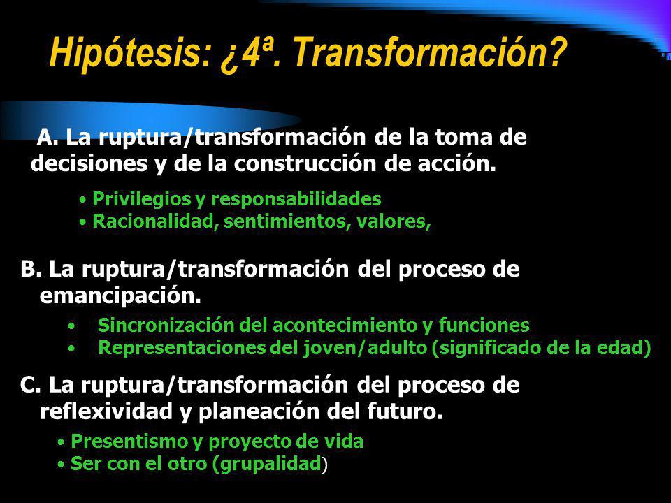 Hipótesis: ¿4ª. Transformación