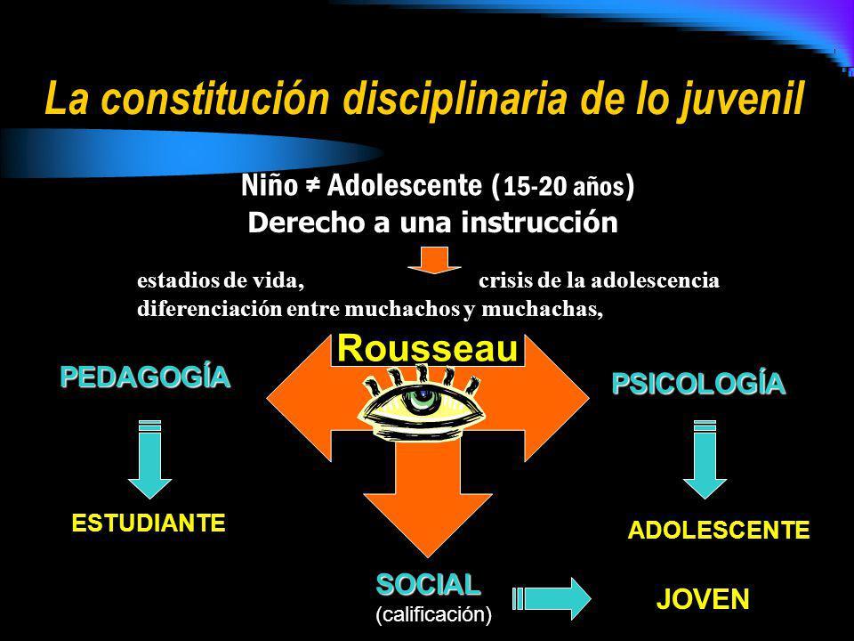 La constitución disciplinaria de lo juvenil