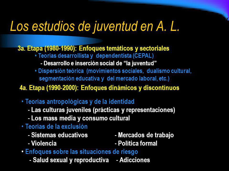 Los estudios de juventud en A. L.
