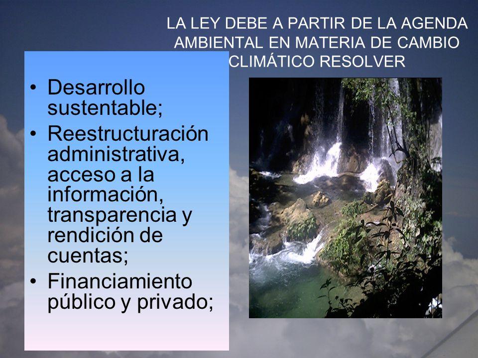 Desarrollo sustentable;