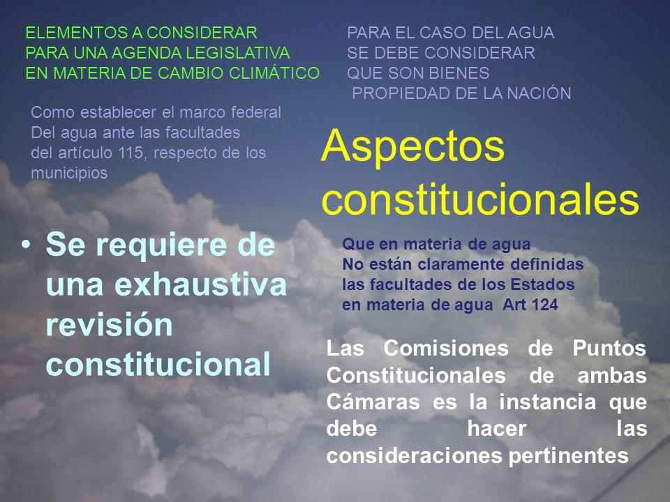 Aspectos constitucionales