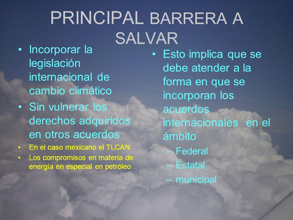 PRINCIPAL BARRERA A SALVAR