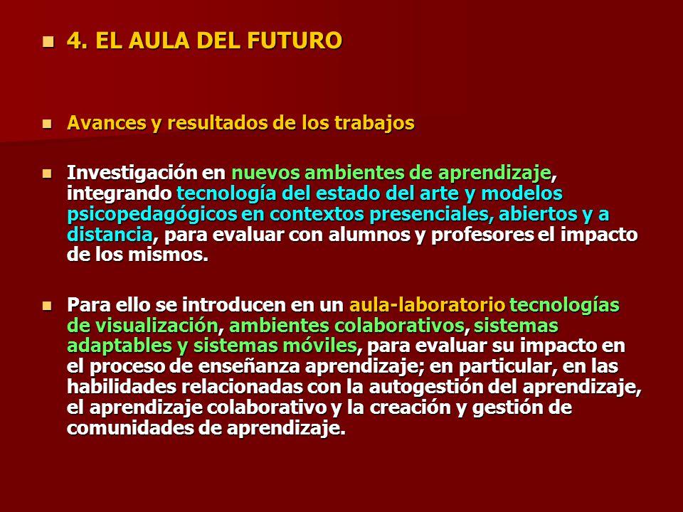 4. EL AULA DEL FUTURO Avances y resultados de los trabajos