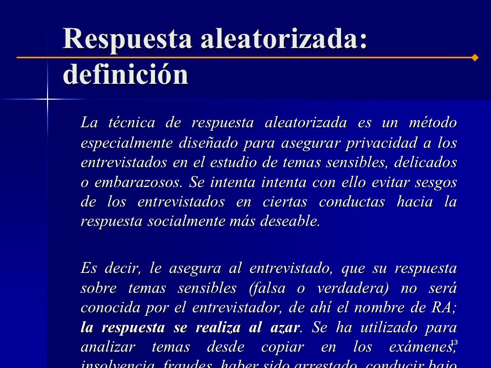Respuesta aleatorizada: definición