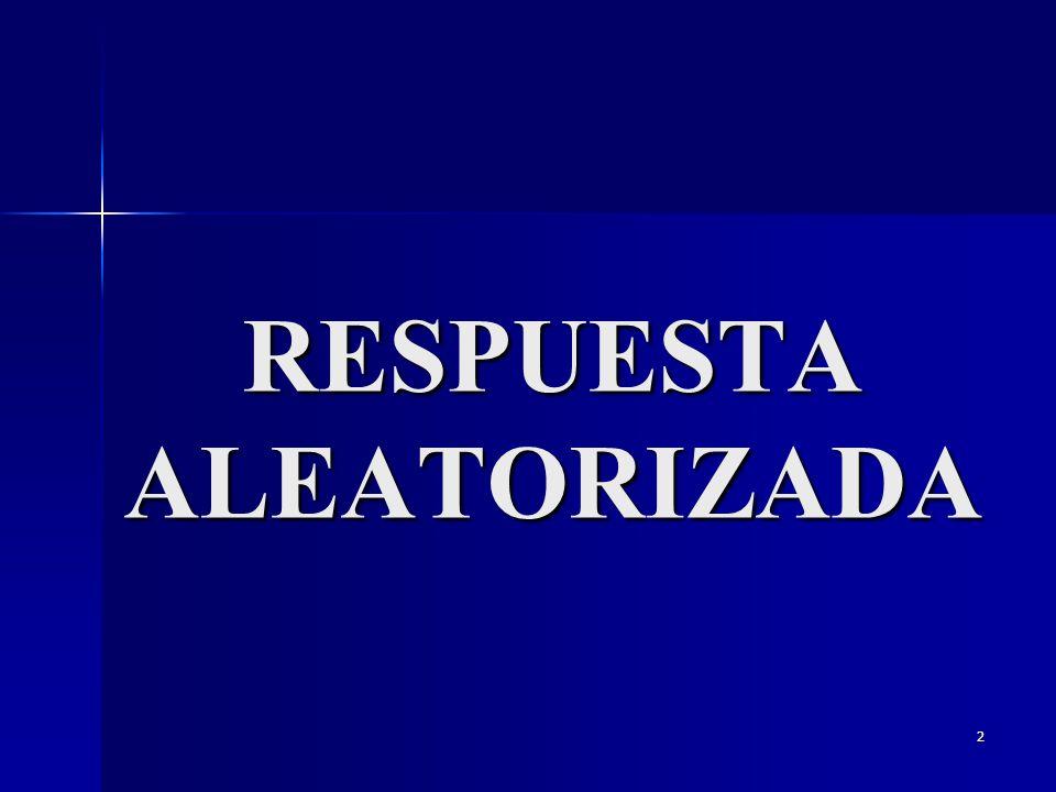 RESPUESTA ALEATORIZADA