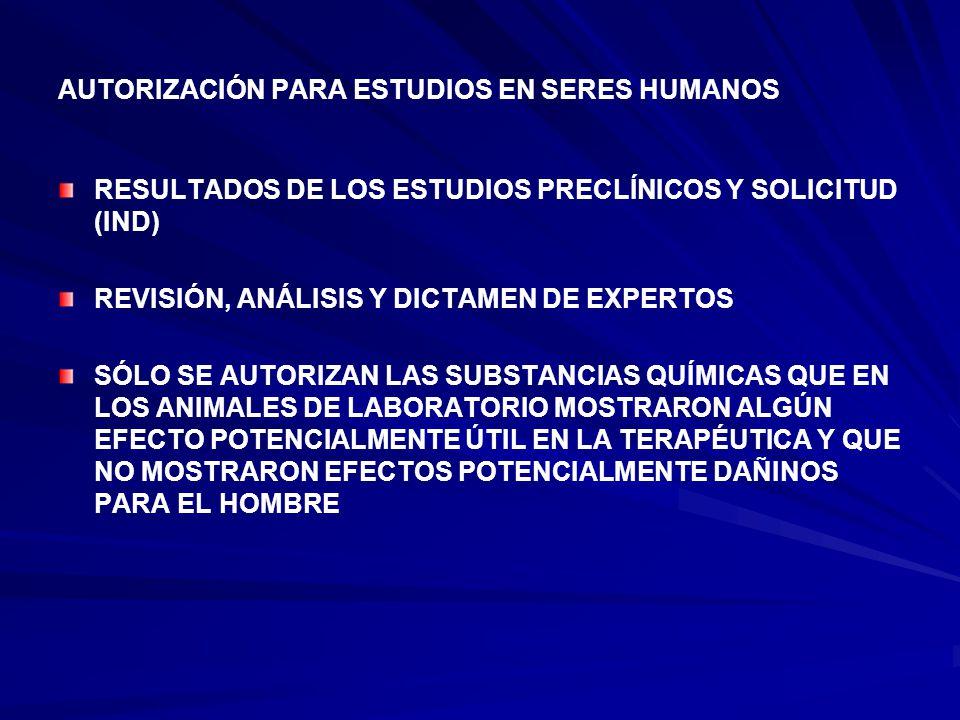 AUTORIZACIÓN PARA ESTUDIOS EN SERES HUMANOS