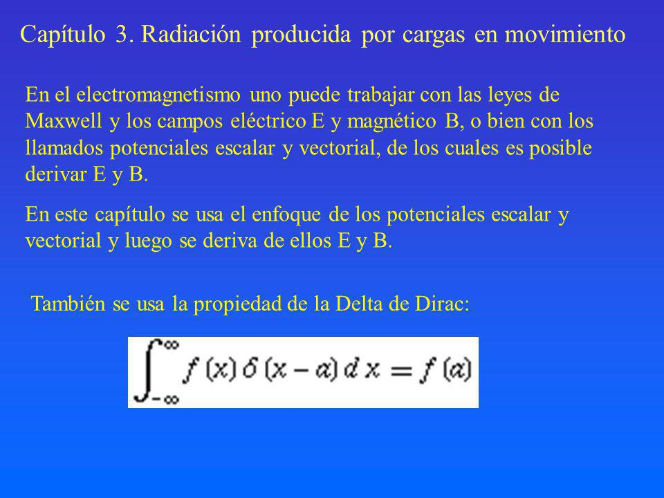Capítulo 3. Radiación producida por cargas en movimiento