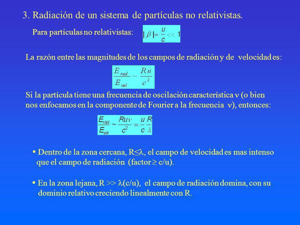 3. Radiación de un sistema de partículas no relativistas.