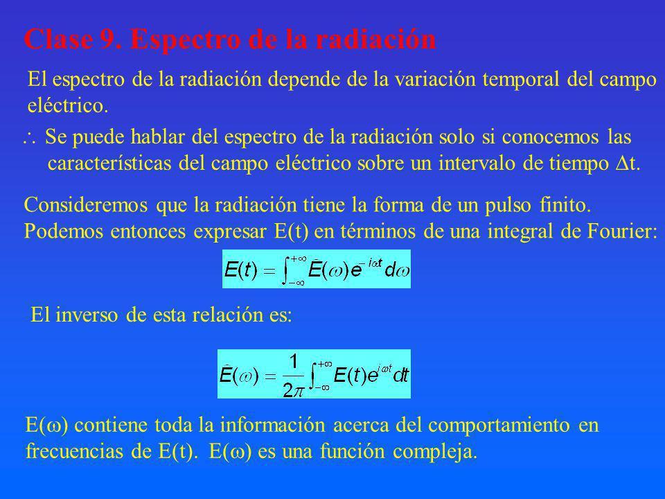 Clase 9. Espectro de la radiación