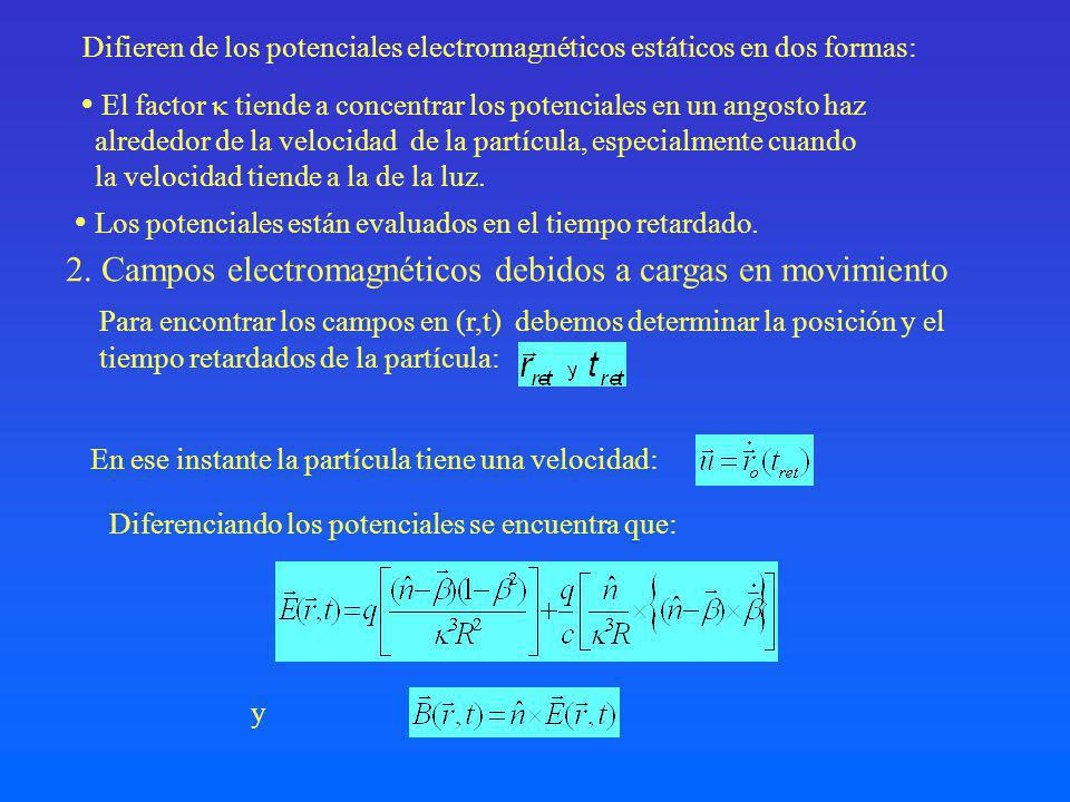2. Campos electromagnéticos debidos a cargas en movimiento