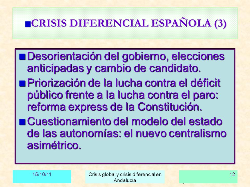CRISIS DIFERENCIAL ESPAÑOLA (3)