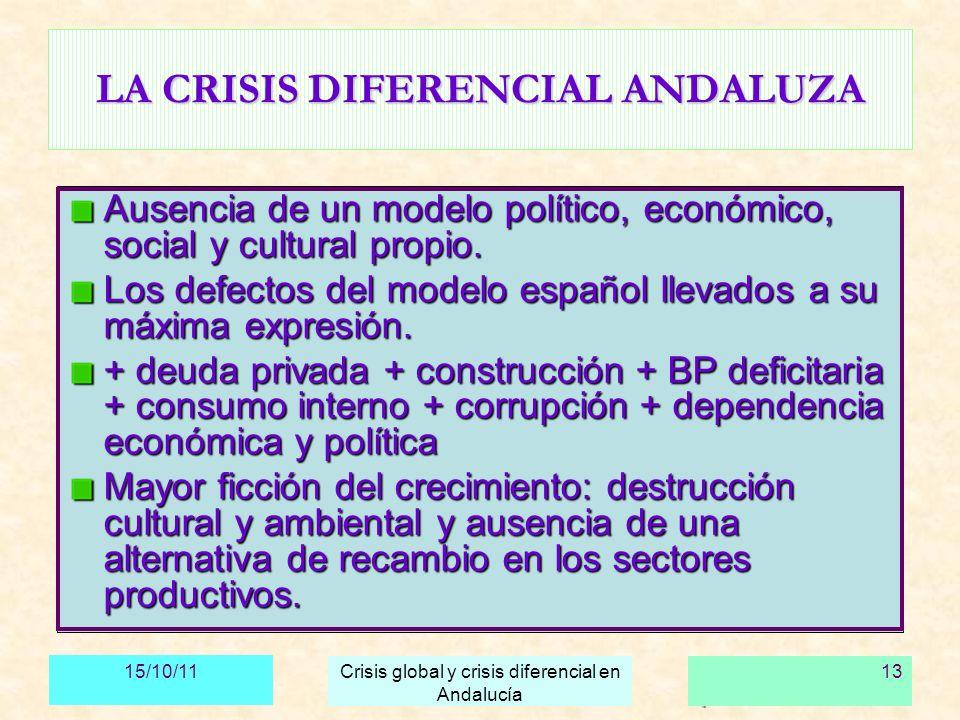 LA CRISIS DIFERENCIAL ANDALUZA