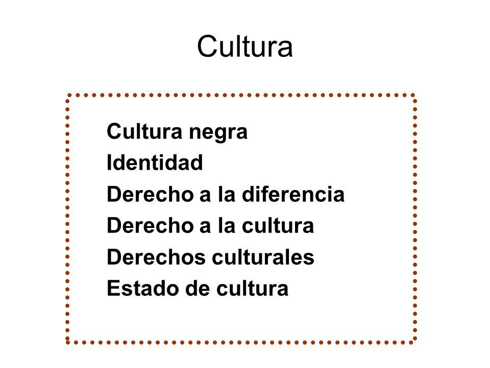 Cultura Cultura negra Identidad Derecho a la diferencia