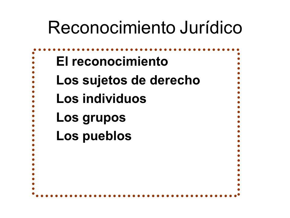 Reconocimiento Jurídico