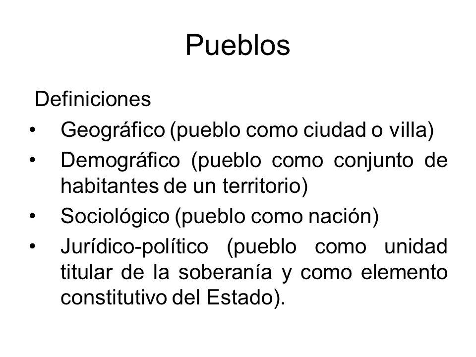 Pueblos Definiciones Geográfico (pueblo como ciudad o villa)