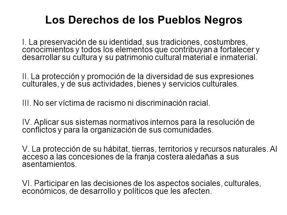 Los Derechos de los Pueblos Negros
