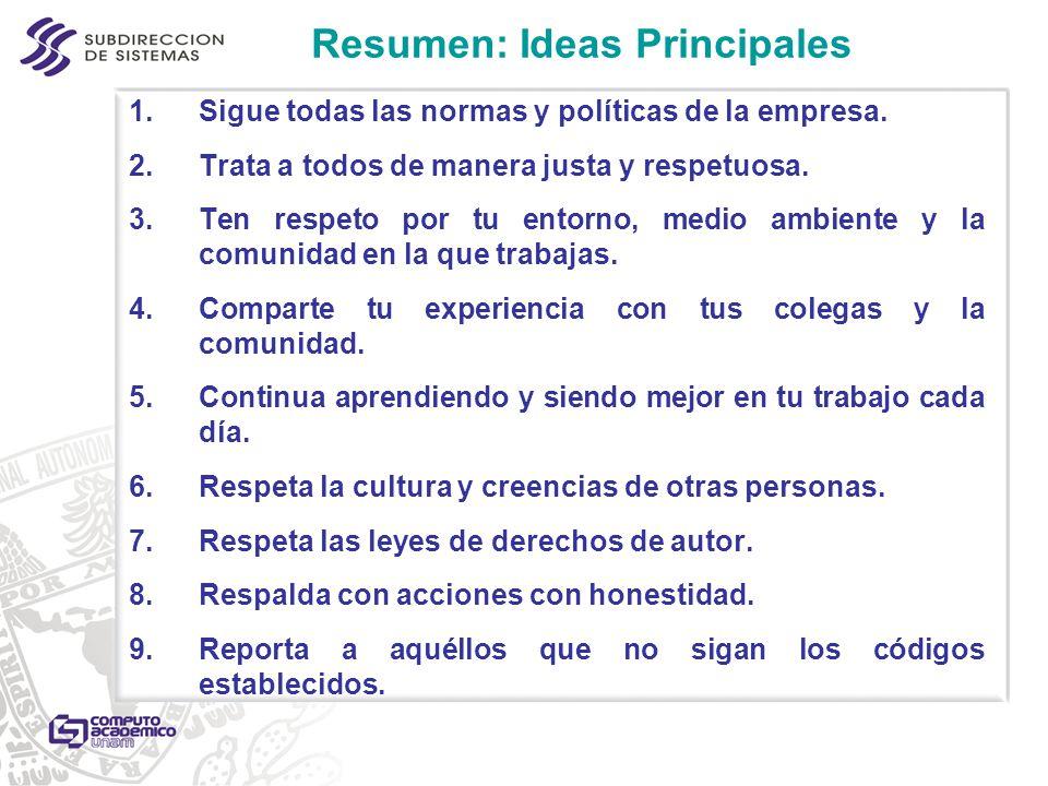 Resumen: Ideas Principales
