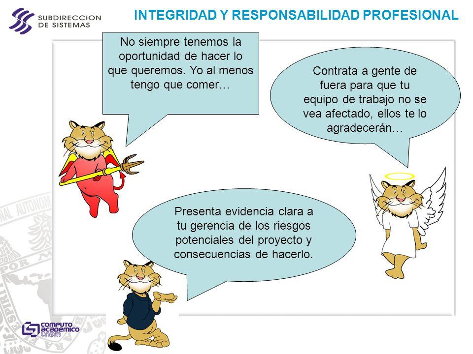 INTEGRIDAD Y RESPONSABILIDAD PROFESIONAL