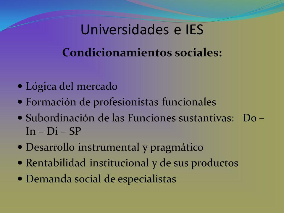 Condicionamientos sociales: