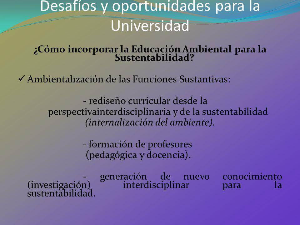 Desafíos y oportunidades para la Universidad