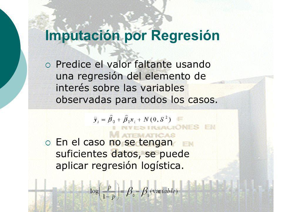 Imputación por Regresión