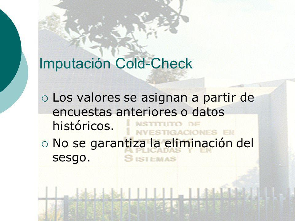 Imputación Cold-Check
