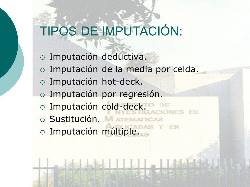 TIPOS DE IMPUTACIÓN: Imputación deductiva.