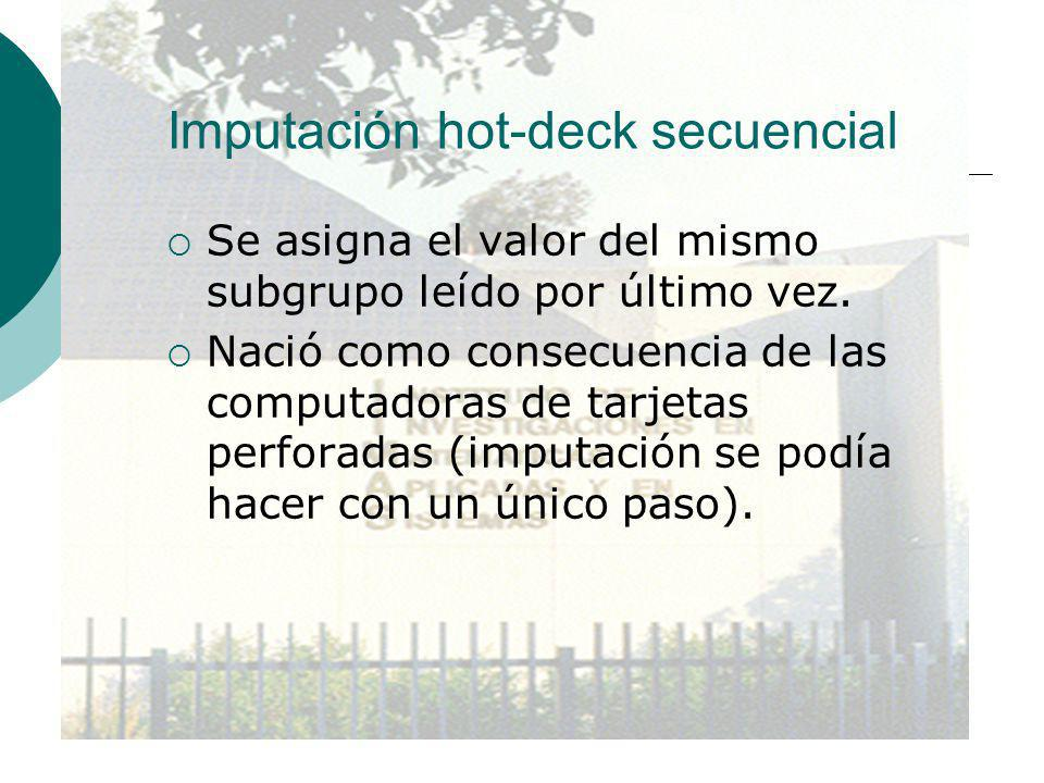 Imputación hot-deck secuencial