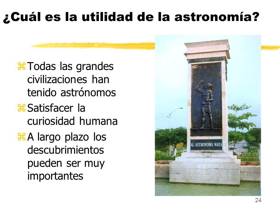 ¿Cuál es la utilidad de la astronomía