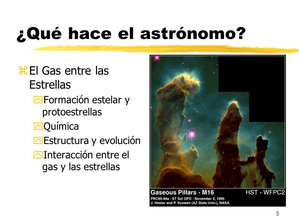¿Qué hace el astrónomo El Gas entre las Estrellas