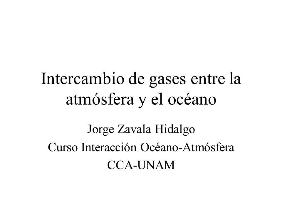 Intercambio de gases entre la atmósfera y el océano