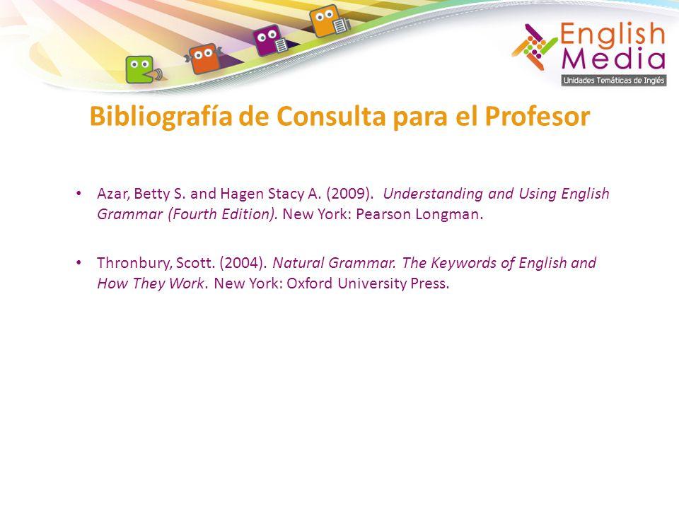 Bibliografía de Consulta para el Profesor