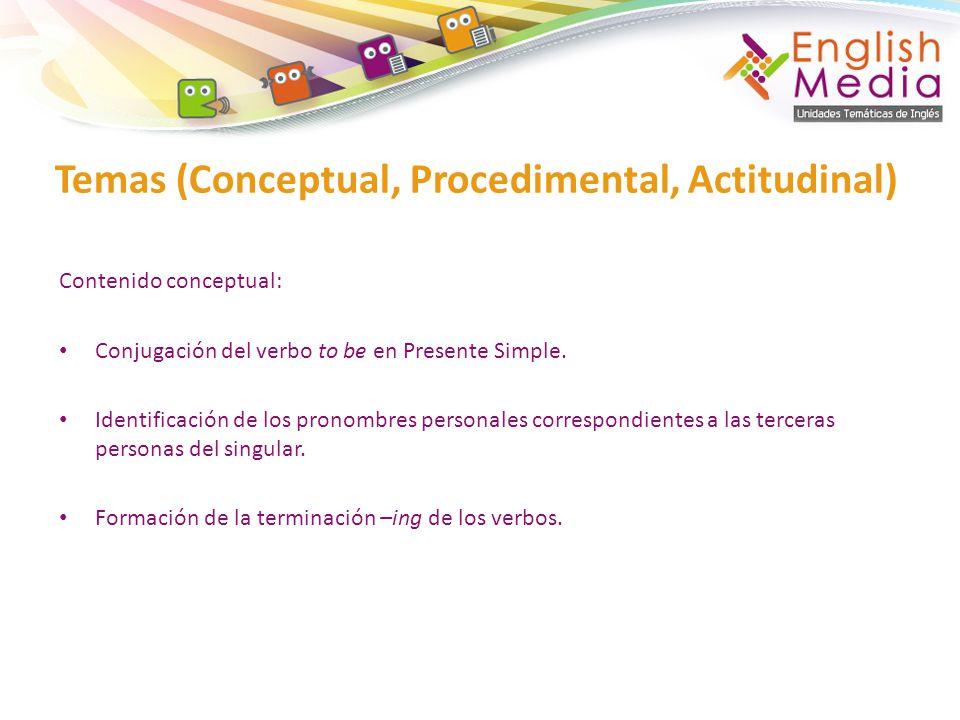 Temas (Conceptual, Procedimental, Actitudinal)