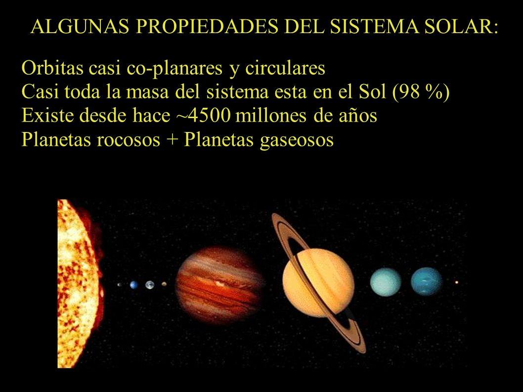 ALGUNAS PROPIEDADES DEL SISTEMA SOLAR: