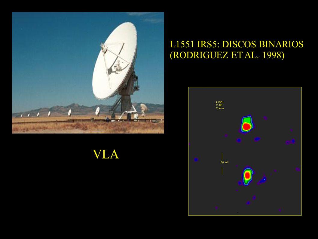 L1551 IRS5: DISCOS BINARIOS (RODRIGUEZ ET AL. 1998) VLA