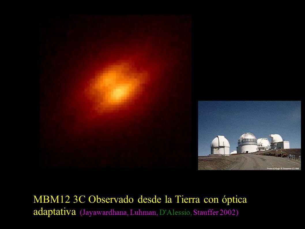 MBM12 3C Observado desde la Tierra con óptica adaptativa (Jayawardhana, Luhman, D Alessio, Stauffer 2002)