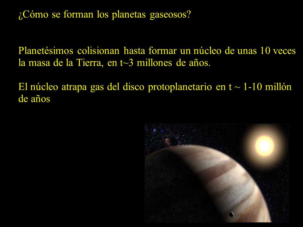 ¿Cómo se forman los planetas gaseosos