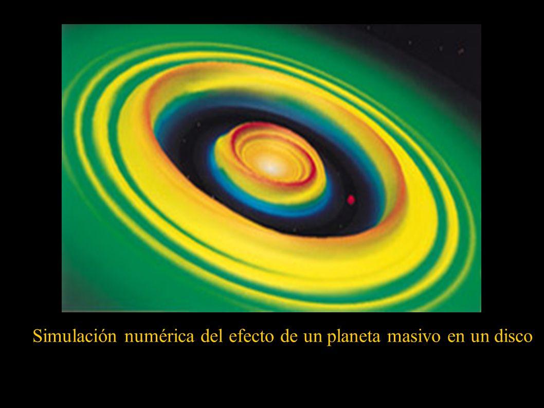 Simulación numérica del efecto de un planeta masivo en un disco