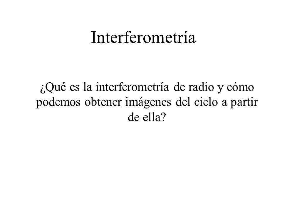 Interferometría ¿Qué es la interferometría de radio y cómo podemos obtener imágenes del cielo a partir de ella