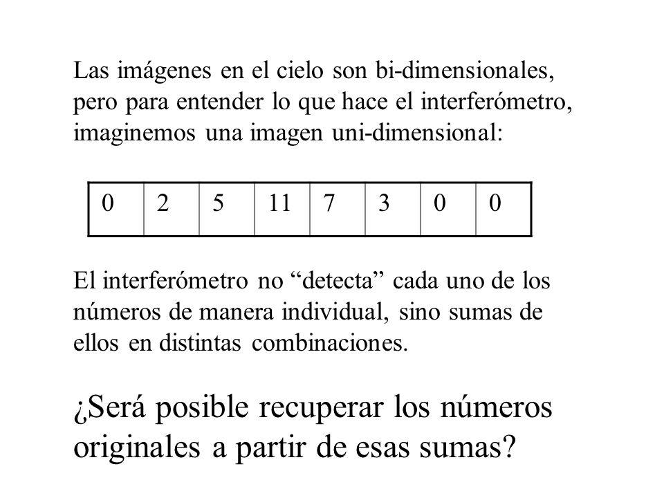 ¿Será posible recuperar los números originales a partir de esas sumas