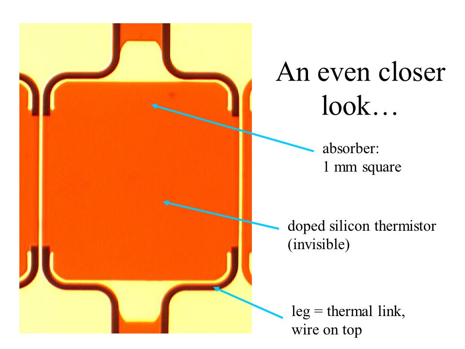 An even closer look… absorber: 1 mm square