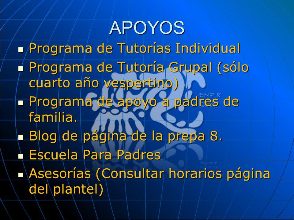 APOYOS Programa de Tutorías Individual