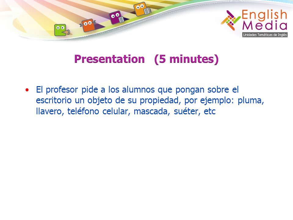 Presentation (5 minutes)
