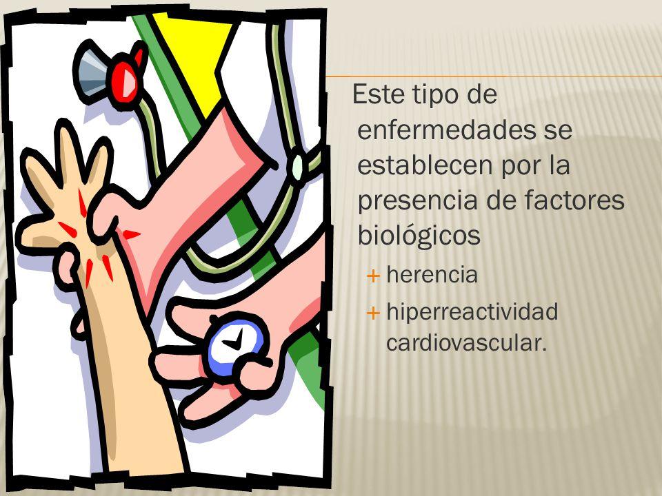 Este tipo de enfermedades se establecen por la presencia de factores biológicos